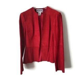 Holt Renfrew Jacket Suede Red sz 6